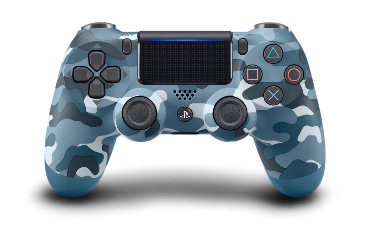 The Blue Camouflage DualShock 4