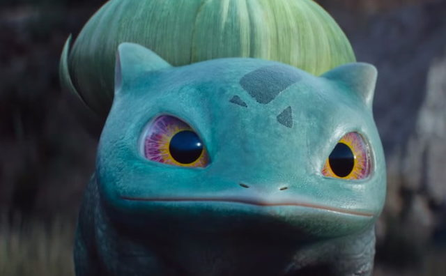 A picture of Bulbasaur looking plant-like.