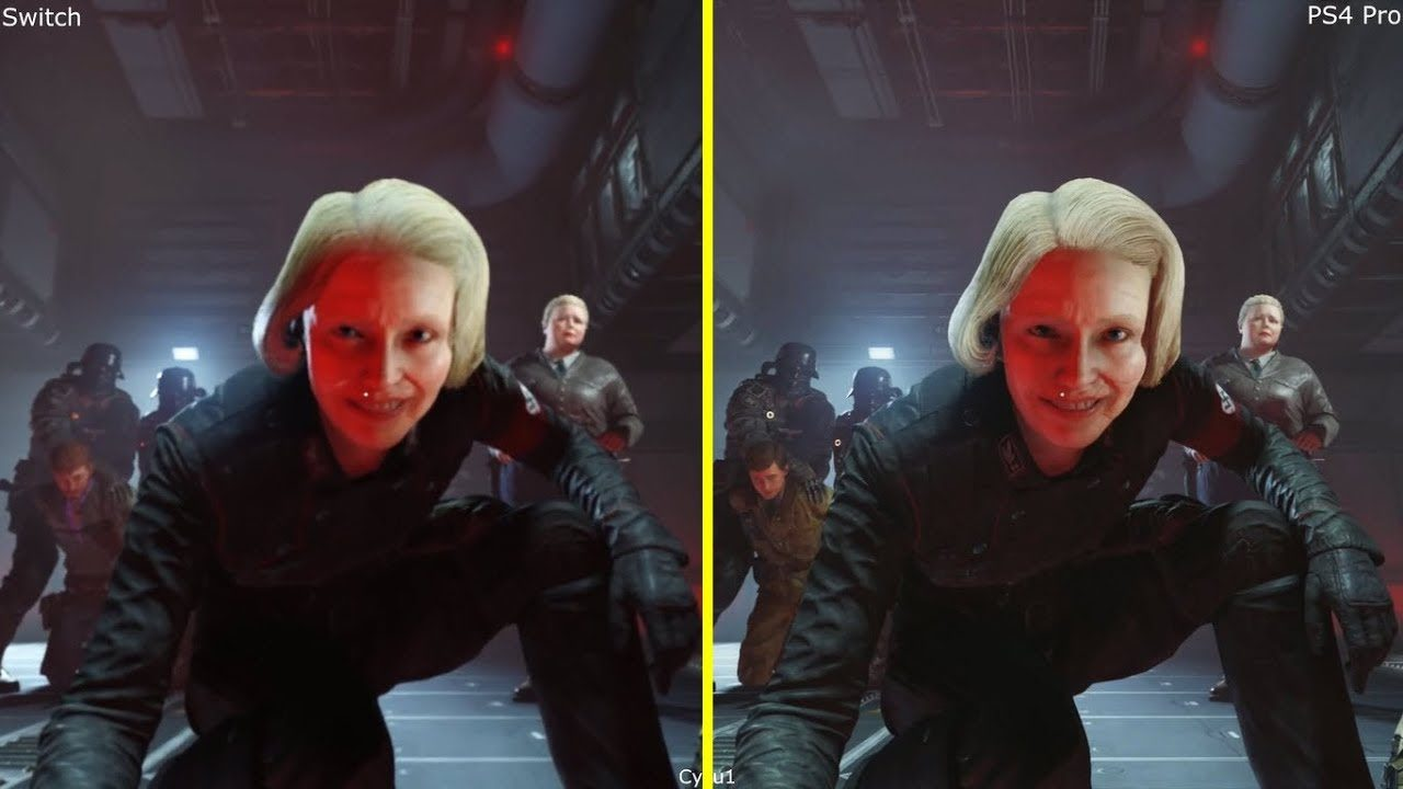 Wolfenstein II: The New Colossus on Switch vs. PS4 Pro (Image: Digital Foundry)