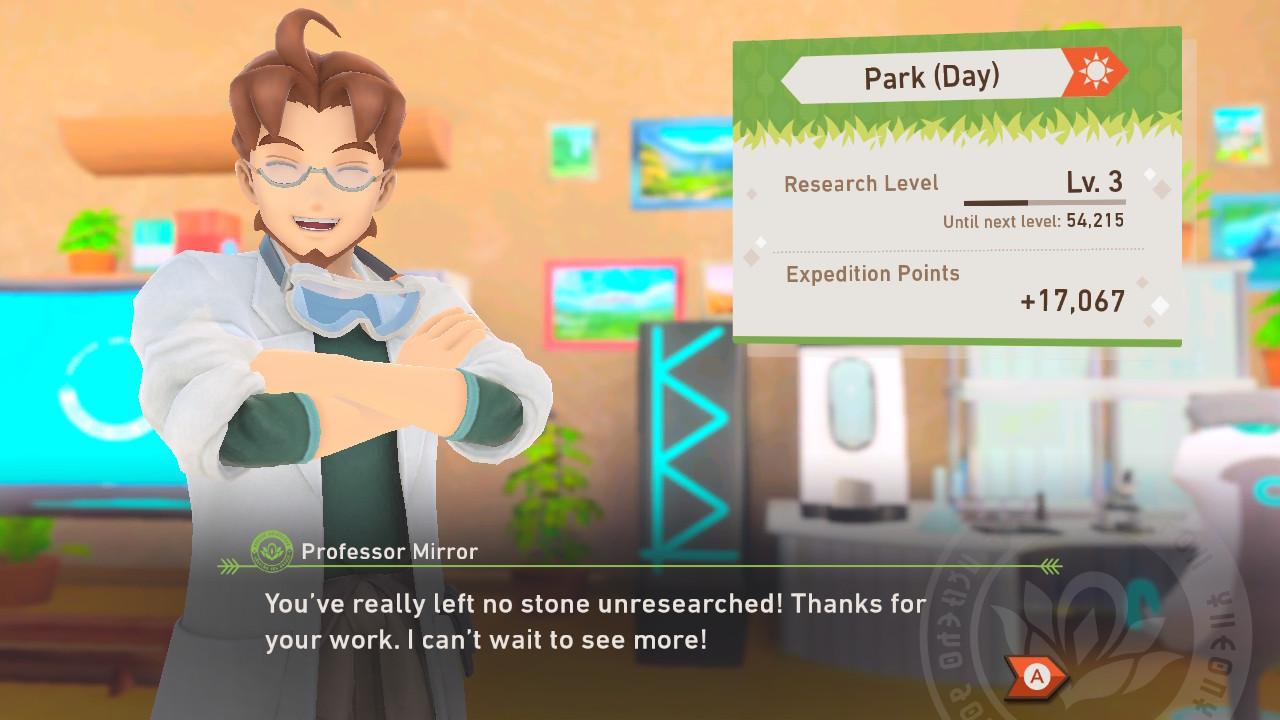 New Pokémon Snap review dialogue screenshot