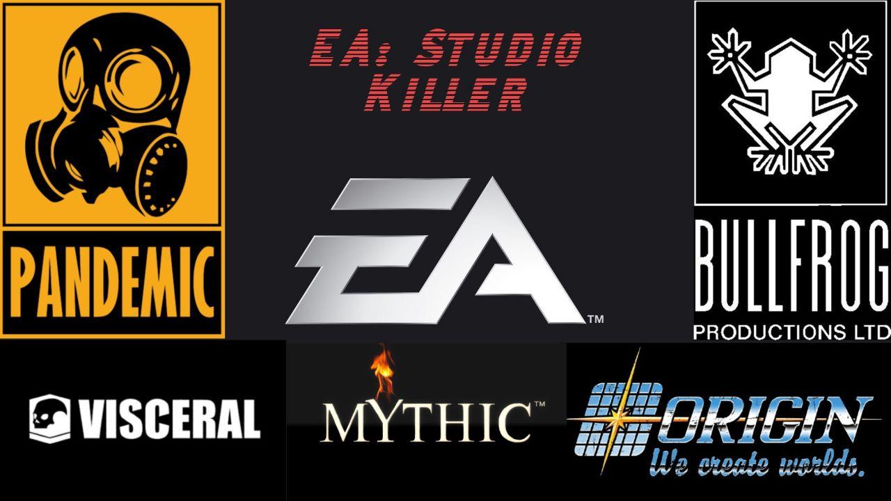 "Logos of studios that EA has ""killed""."
